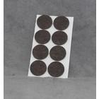 Zelfklevend vilt 28mm rond bruin (8stuks)