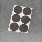 Zelfklevend vilt 35mm rond bruin (6stuks)
