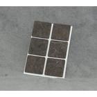 Zelfklevend vilt 30x30mm vierkant bruin (6stuks)