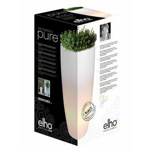 Elho Pure Soft Round High LED Light Ø40 H70. Elho Pure Verlichte Vazen.