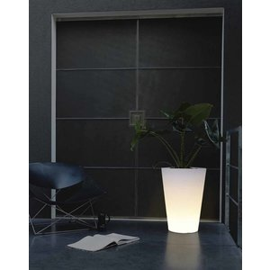 Elho Pure Straight Round LED Light 45cm. Elho Pure Verlichte Bloempotten.