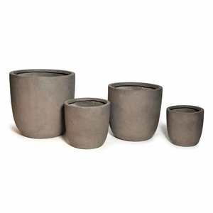 Grote clayfibre bloempot 42cm Taupe