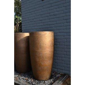 Anvers Goud Bronze Aardewerk Vaas Ø47cm H90cm
