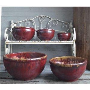 Rio Ossenbloed rode aardewerk Geglazuurde Schaal Ø 50cm