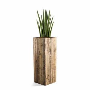Houten plantenbak hoog model maat L