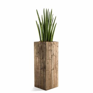 Houten plantenbak hoog model maat M