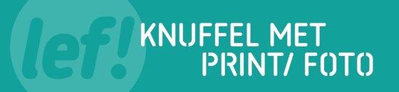 Knuffel met print/ foto
