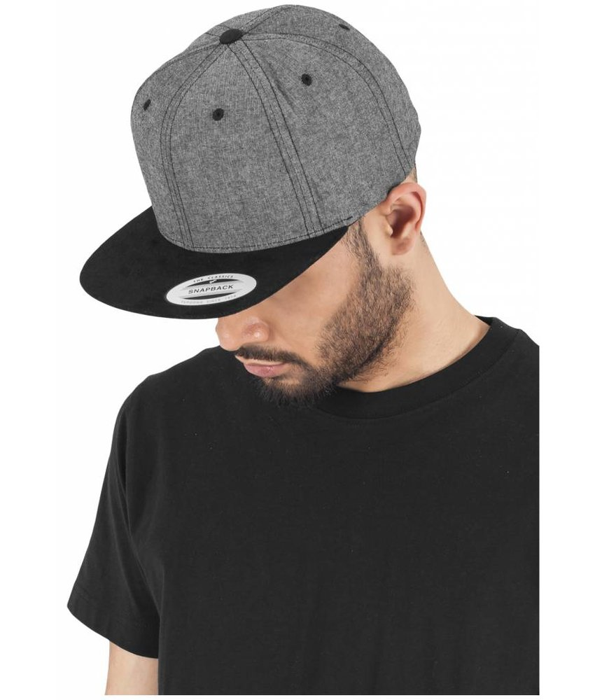 Urban Classics Chambray-Suede Snapback 6089CH
