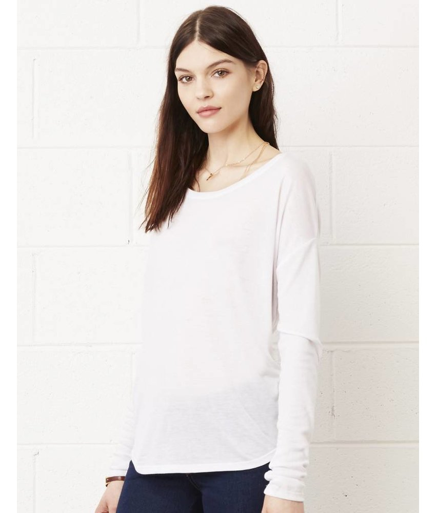 Bella + Canvas Long Sleeve Flowy 2x1 Viscose T-Shirt