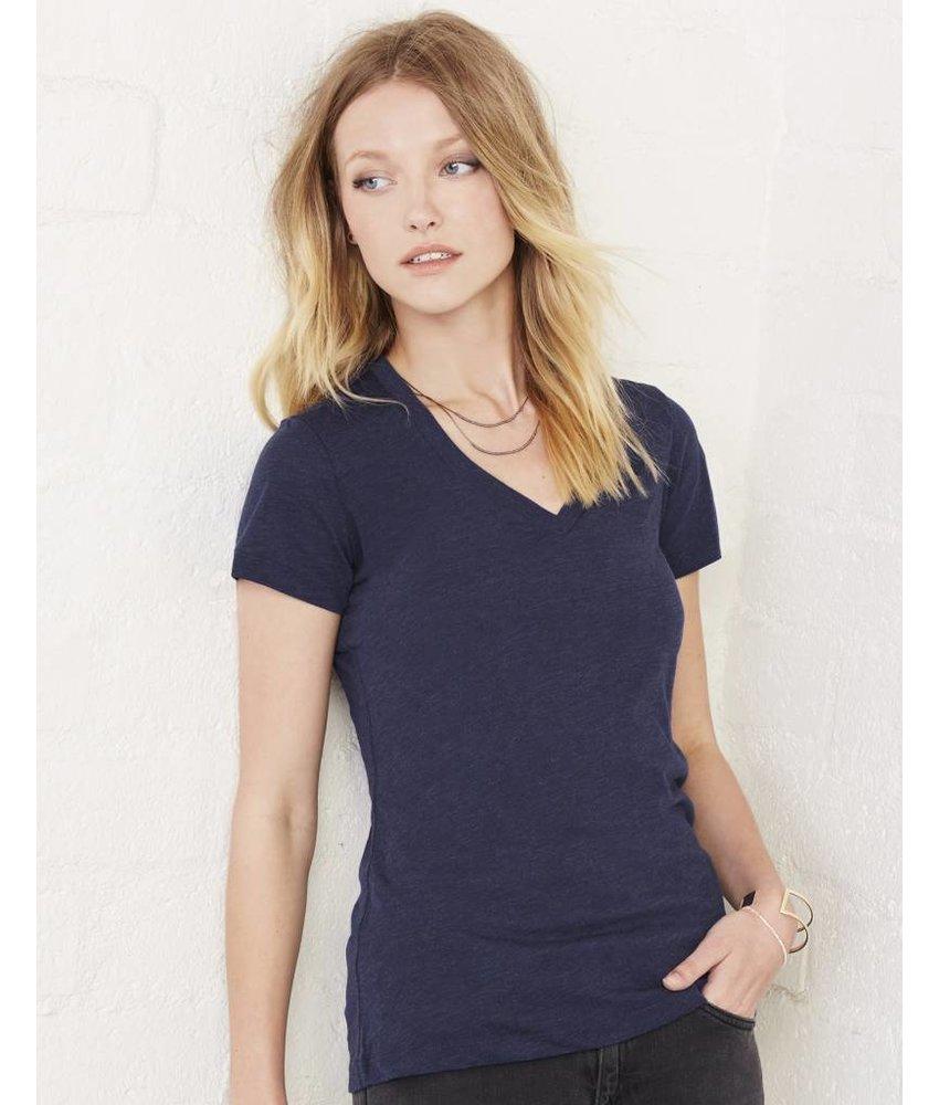 Bella + Canvas Womens Triblend Deep V-Neck T-Shirt