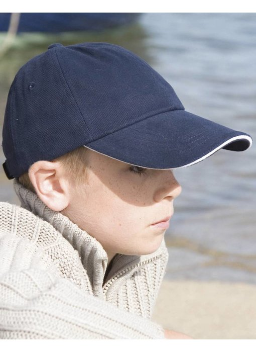 Result Headwear Kids Brushed Cotton Twill Cap