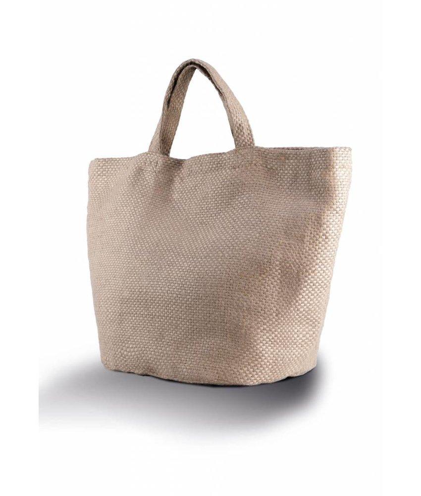 Kimood Fashionable 100% Natural Yarn Dyed Jute Bag