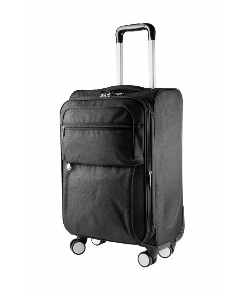 Kimood Cabin Size Trolley Bag With Gusset Sides