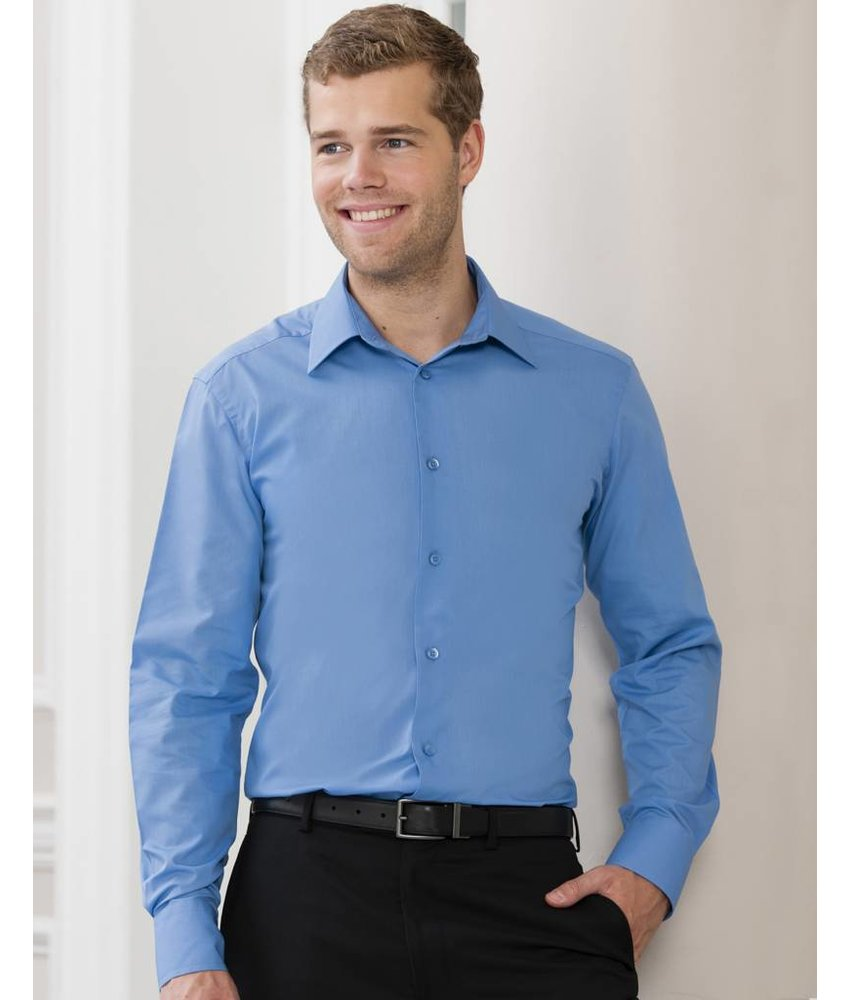 Russell Collection Men's L/SL Poplin Blouse
