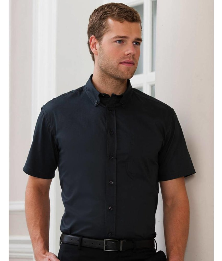 Russell Collection Short Sleeve Classic Twill Blouse