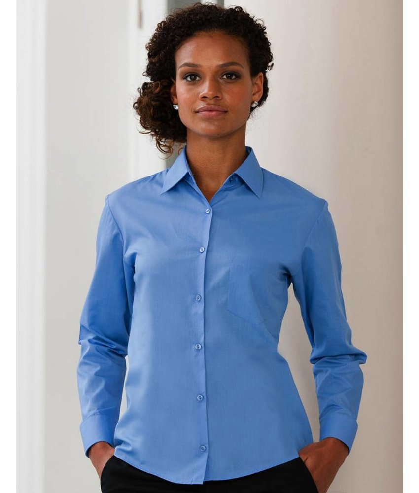 Russell Collection Long Sleeve Poplin Blouse