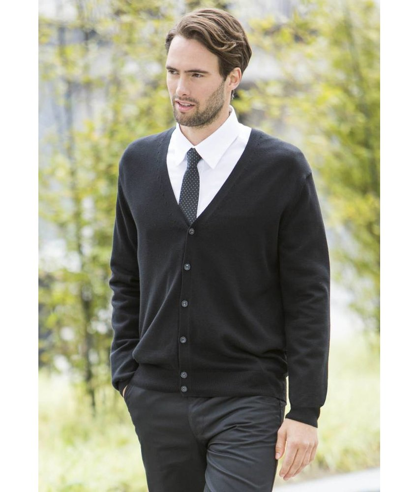 Henbury Men's Lightweight V Cardigan