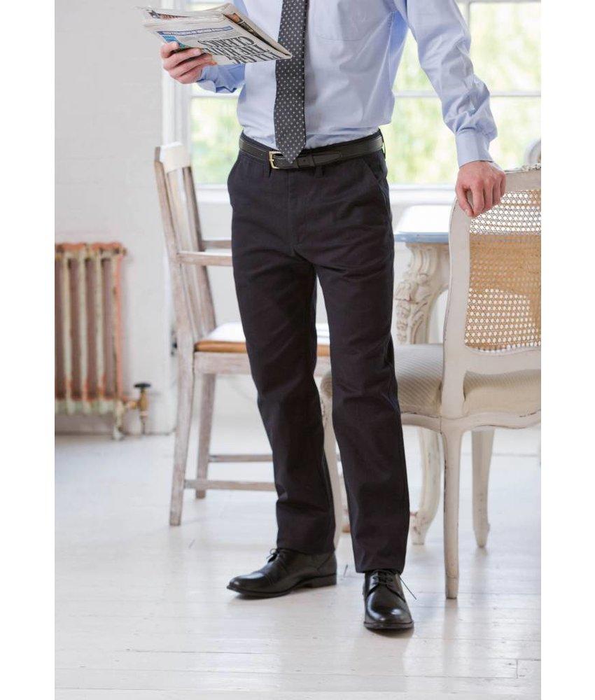 Henbury Men's 65/35 Flat Fronted Chino Trousers