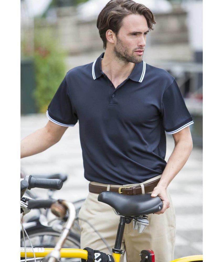 Henbury Men's Coolplus Short Sleeved Tipped Polo