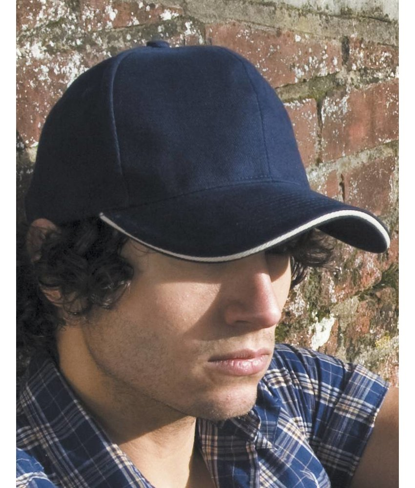 Result Headwear Sandwich Brushed Cotton Cap