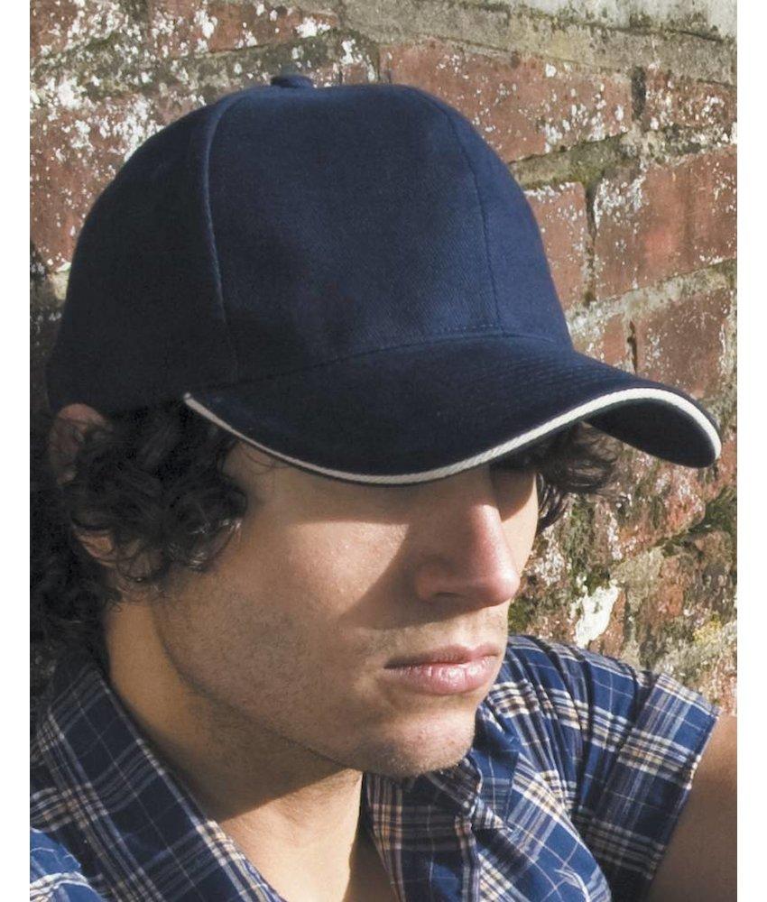 Result Headwear Sandwich Brushed Cotton Cap