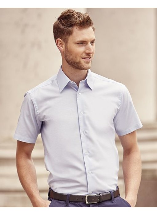 Russell Collection Men's S/SL Oxford Blouse