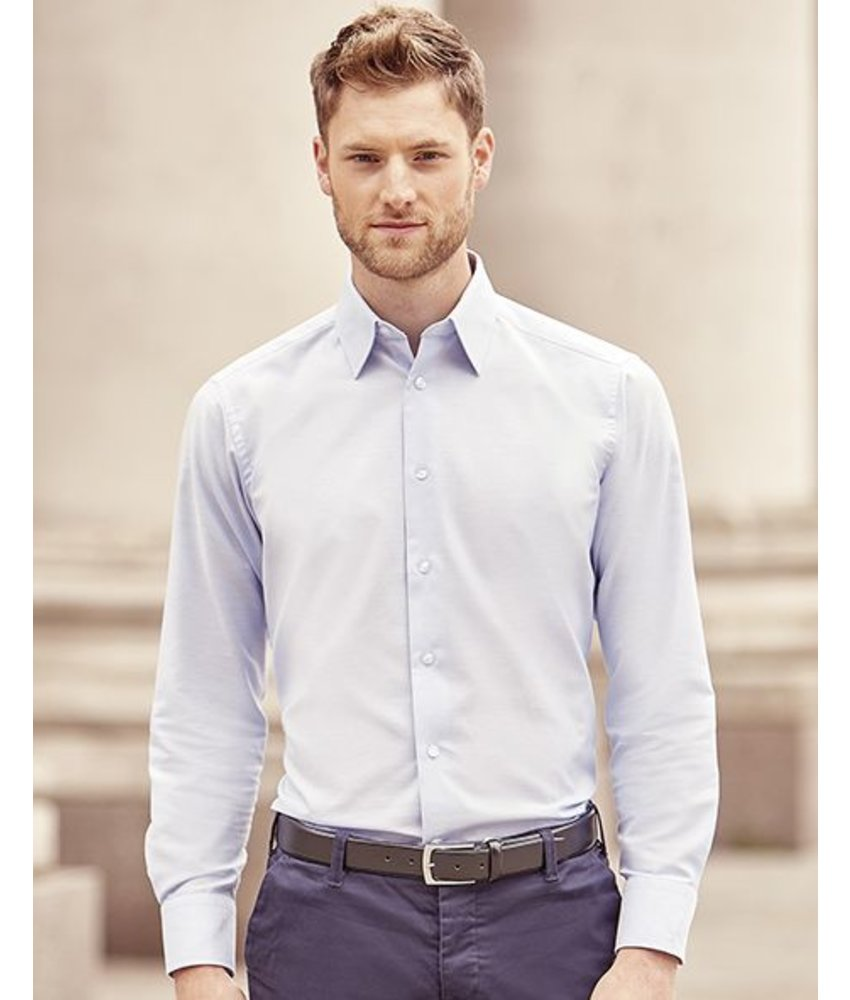 Russell Collection Men's L/SL Oxford Blouse