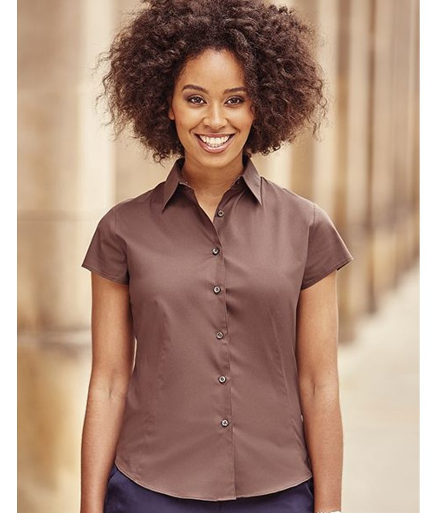 Russell Collection Tailored Shortsleeve Blouse