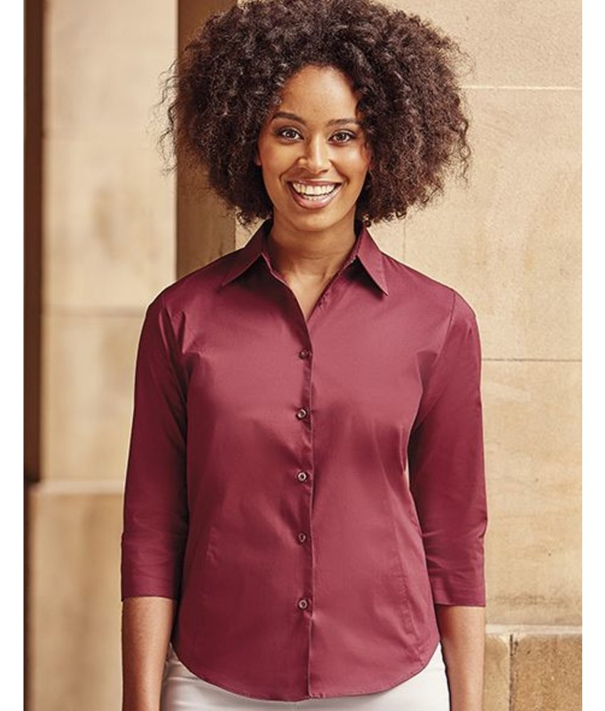 Russell Collection Tailored Blouse with 3/4 Sleeves