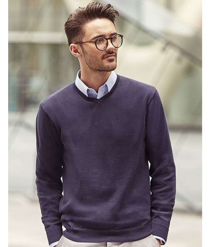 Russell Collection V-Neck Knit Pullover
