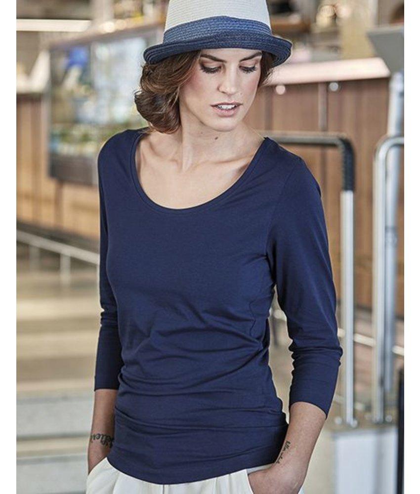 Tee Jays Ladies 3/4 Sleeve Stretch T-Shirt