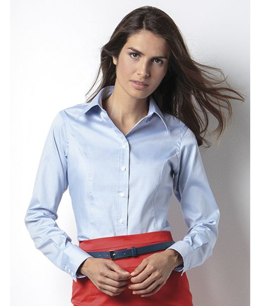Kustom Kit Ladies Corporate Oxford Blouse LS