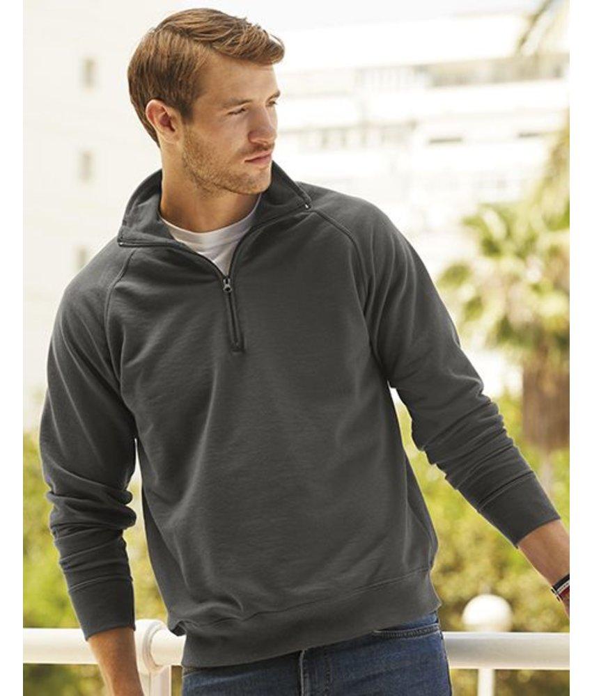 Fruit of the Loom Lightweight Zip Neck Sweater
