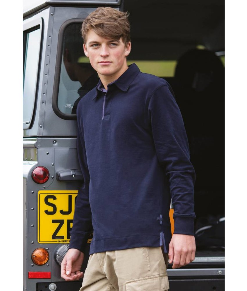 Front Row Collection Rugby Polo Long Sleeve