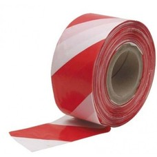 Afzetband rood wit 70mm 100 m