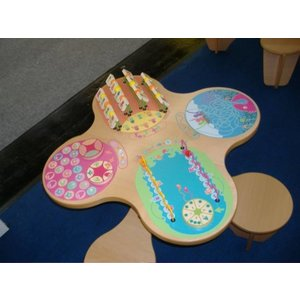 Wooden bead table