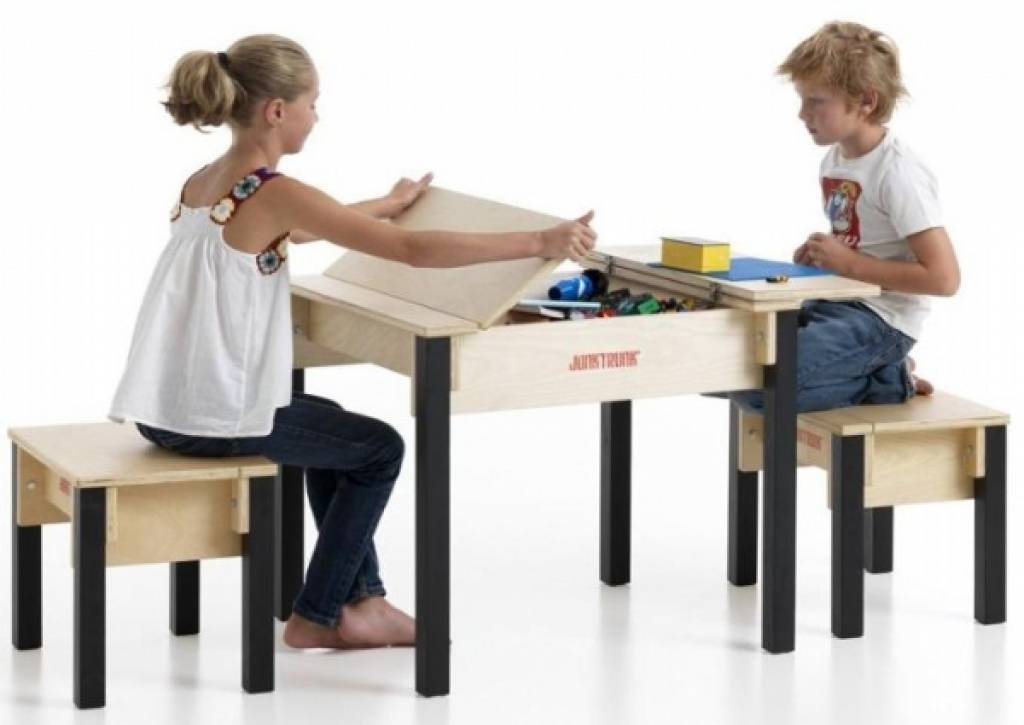 kids storage table and chairs kinderspell. Black Bedroom Furniture Sets. Home Design Ideas