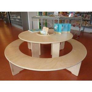 Table de jeux ronde en bois