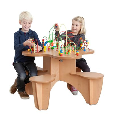 Wooden bead activity table
