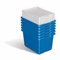lego gro e aufbewahrungsbox blau f r lego und duplo steine kinderspiel. Black Bedroom Furniture Sets. Home Design Ideas