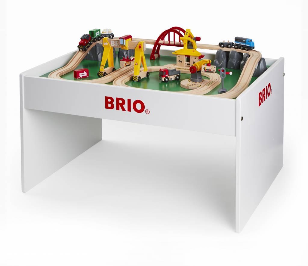 Spieltisch Eisenbahn brio spieltisch weiß mit brio spielplatte und spielmaterial