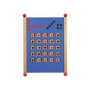Wall mounted play panel