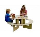 Kindertafel met bank