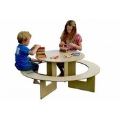 Childrens wooden activity play table