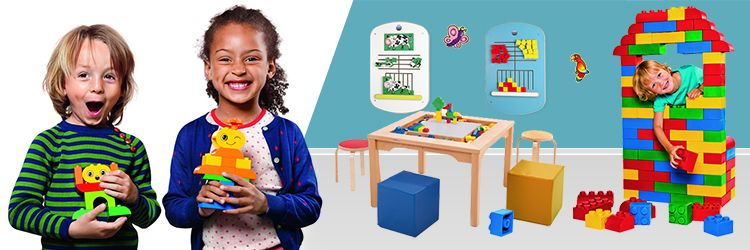 Kids corner furniture and toys for play area and waiting room banner 1