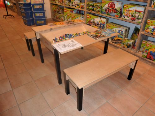 showroom inrichten met meubels voor kinderen