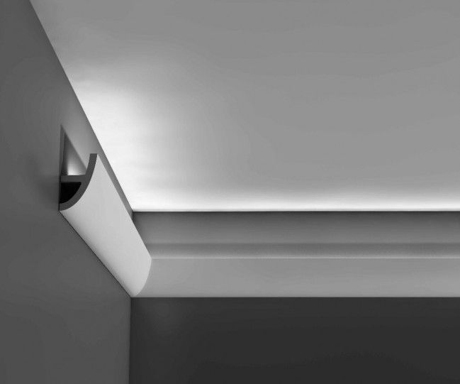 Orac decor luxxus collectie c373 antonio kroonlijst for Badkamer verlichting plafond
