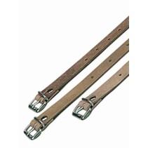 Lederen / leren riem met gesp 25 cm Lengte x 22 mm breedte