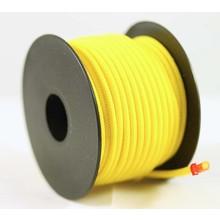 Polyester touw 3mm op spoel. Geel.