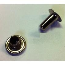 Holniet Koper-Vernikkeld 100 stuks: Hoogte 9 / Dikte 3 / kop 9 mm